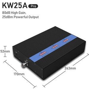Image 5 - Lintratek nouveau amplificateur de Signal 80dB GSM 2G 3G 4G 900 1800 2100Mhz répéteur 25dBm amplificateur de Signal tribande AGC MGC grande couverture