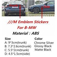 Логотип бокового крыла M Power Performance, автомобильная наклейка, наклейка, эмблема, значок бокового багажника для BMW E46, E39, E90, E34, E36, E53, E60, x3, x5, e70, F10