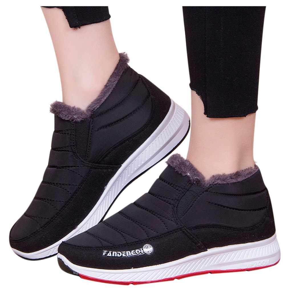 Kadın platformu Sneakers rahat erkek kış platformu alt çizmeler kaymaz kar botları anne rahat patik ботинки женские #114