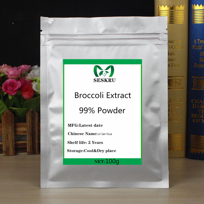 100% Natural High Quality Organic Broccoli Extract Powder, High protein supplement, improve immunity, prevent cancer image