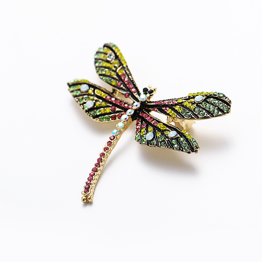 Animal Brooch Pins For Women Bling Rhinestone Bee Spider Brooches Dragonfly Brooches Pin Jewelry Wedding Party Bijoux Best Gift 5