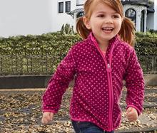 Warm Polka Dots Soft Polar Fleece Child Coat Baby Girls Jackets Windproof Children Outerwear Clothing Kids Outfits For 75-125cm цены