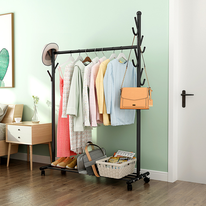 floor-coat-rack-portable-power-clothes-rack-bedroom-clothes-hanger-simple-indoor-household-clothes-rack-wind-resistant-creative