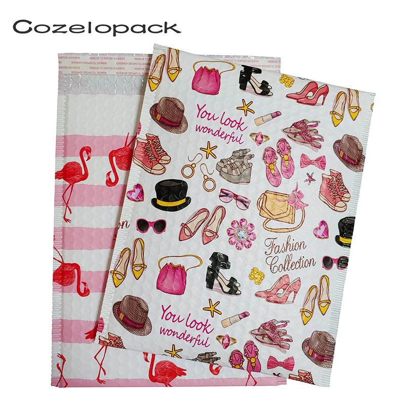 10PCS Poly Bubble Mailer Flamingo Design Fashion Trend Padded Envelopes Mailing Bag Self Seal Envelope Shipping Bag