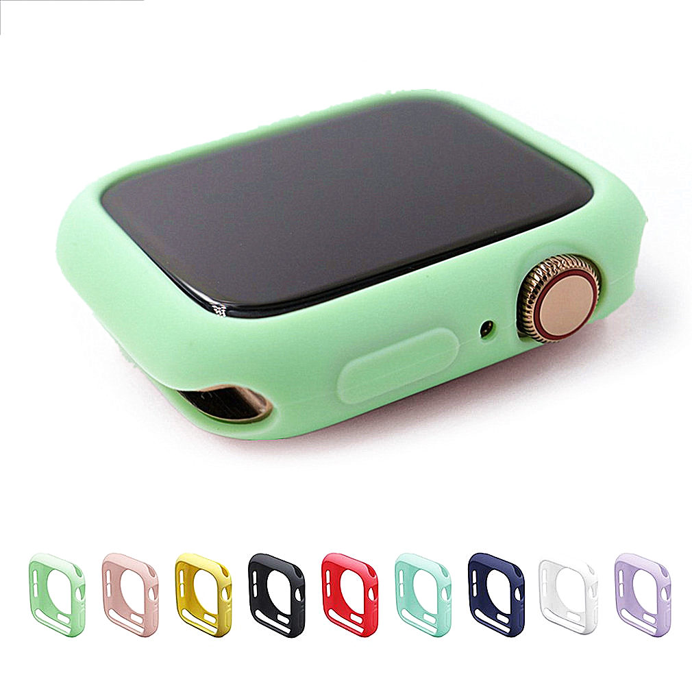 Candy Color Smart Watch Protection Case For Apple Watch 1 2 3 4 5 Generation Watch Tpu Case 38 42 40 44mm image