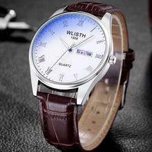 Часы для пары мужские и женские кварцевые часы с двойным календарем