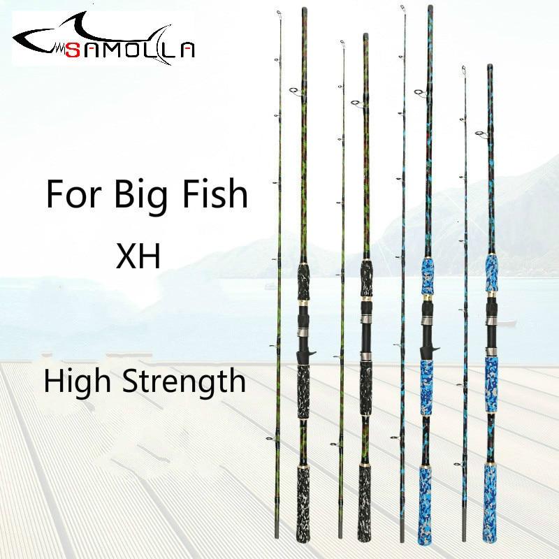 Carbon Strong Fishing Rod Xh Peche En Mer Spinning Casting Olta Kamislari Varas De Pesca Em Carbono Peche For Big Fish Superhard