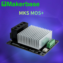 Makerbase mks mosfet 3d impressora, controlador de aquecimento para cama/extrusora módulo mos, exceto 30a, suporte, corrente grande