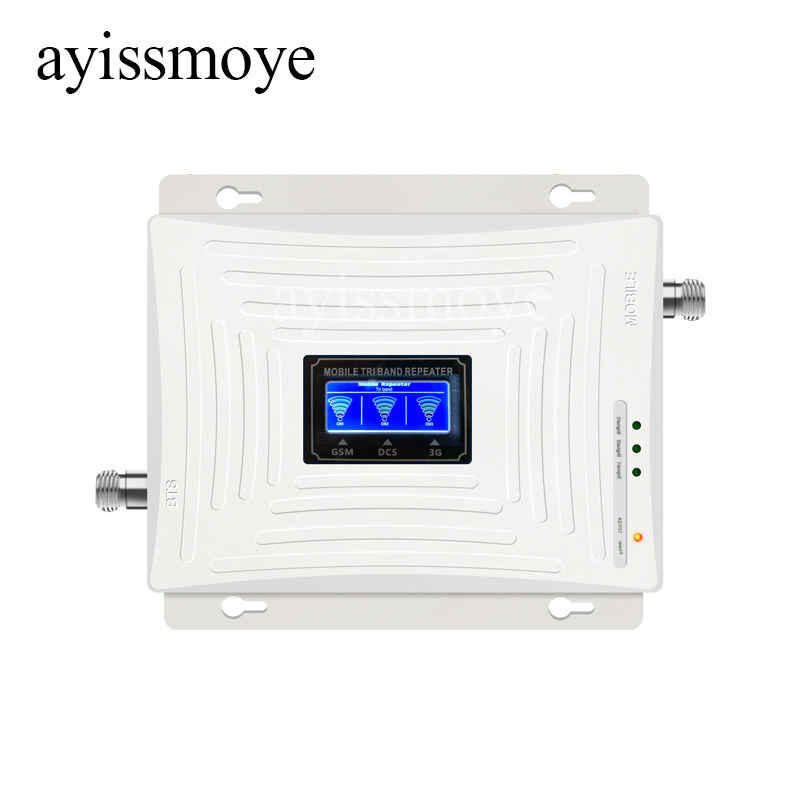 New GSM 2G 3G 4G Cell Phone Booster Tri Band Mobile Signal Amplifier LTE Cellular Repeater GSM DCS WCDMA 900 1800 2100 Set