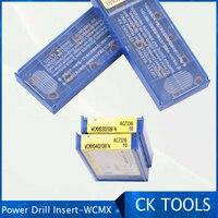 Prezzo basso 10PCS WCMX030208 WCMX040208 WCMX050208 WCMX060308 WCMX060308 AZC330 Cutter utensili di Tornitura u trapano inserto in metallo duro-in Mandrino da Attrezzi su