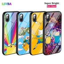 Black Cover Adventure Time Fashion for iPhone X XR XS Max for iPhone 8 7 6 6S Plus 5S 5 SE Super Bright Glossy Phone Case black cover motivational quotes for iphone x xr xs max for iphone 8 7 6 6s plus 5s 5 se super bright glossy phone case