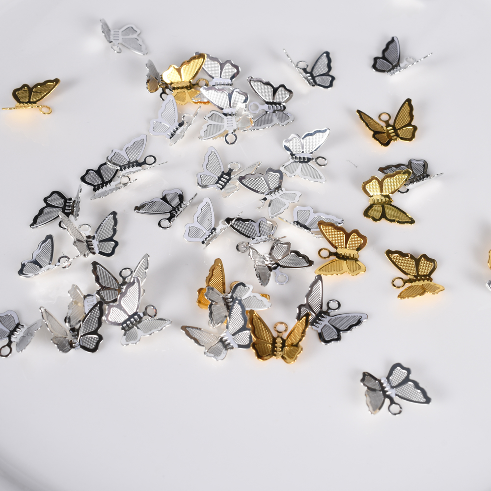 30Pcs/Lot Copper Brass Butterfly Pendant Charms For Necklace Bracelet Earrings Butterfly Jewelry Making Findings Accessories 1