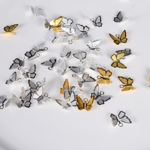 30Pcs/Lot Copper Brass Butterfly Pendant Charms For Necklace Bracelet Earrings Butterfly Jewelry Making Findings Accessories