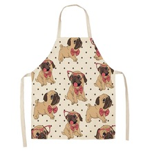 Creative Home Decontamination Apron Insnet Red Animal Dog Cotton Hemp Girth