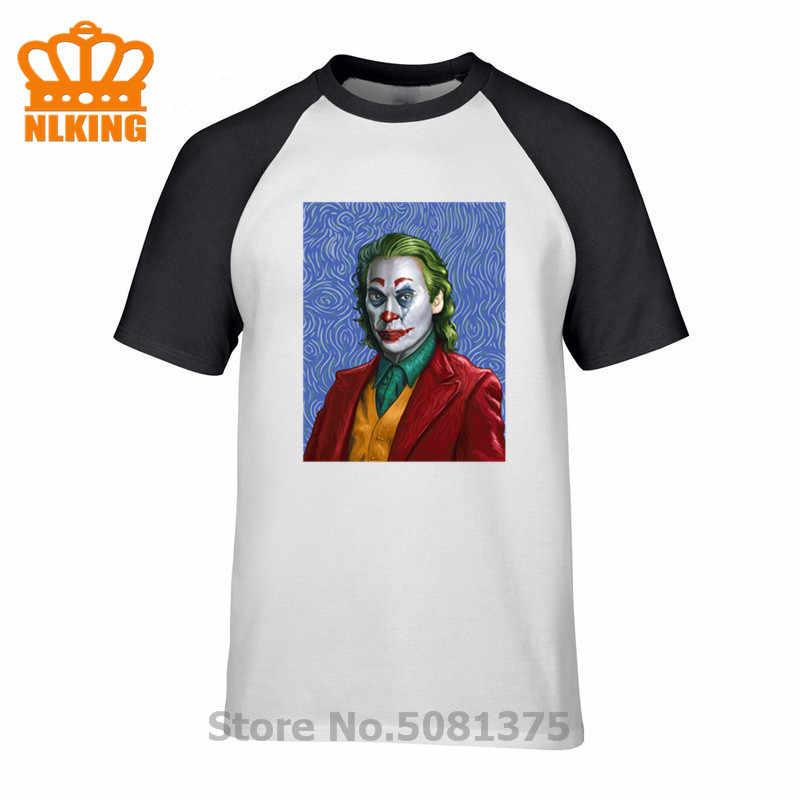 100% хлопок Harajuku мода Ван Гог Джокер печатных футболки для мужчин винтаж короткий рукав Повседневная мода Графический мужские футболки топы
