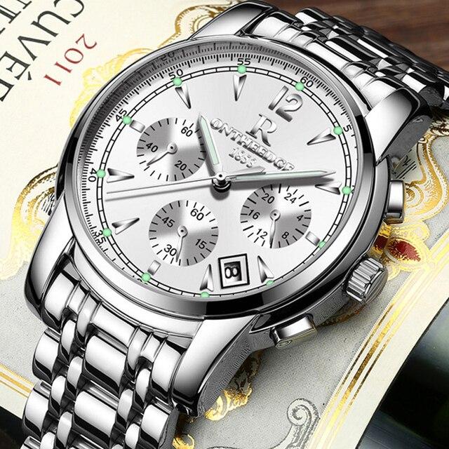 Фото часы наручные мужские кварцевые многофункциональные брендовые цена
