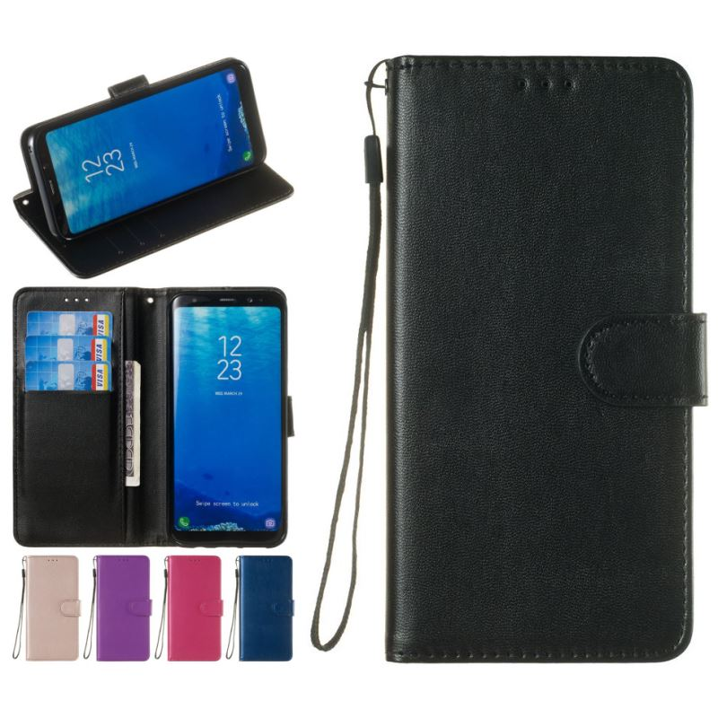 Luxury Flip Phone Case For apple iPhone X Xs Max Xr 8 7 6 S 6S Plus 5 5S SE Single Color Leather Wallet Stand Fundas P23Z