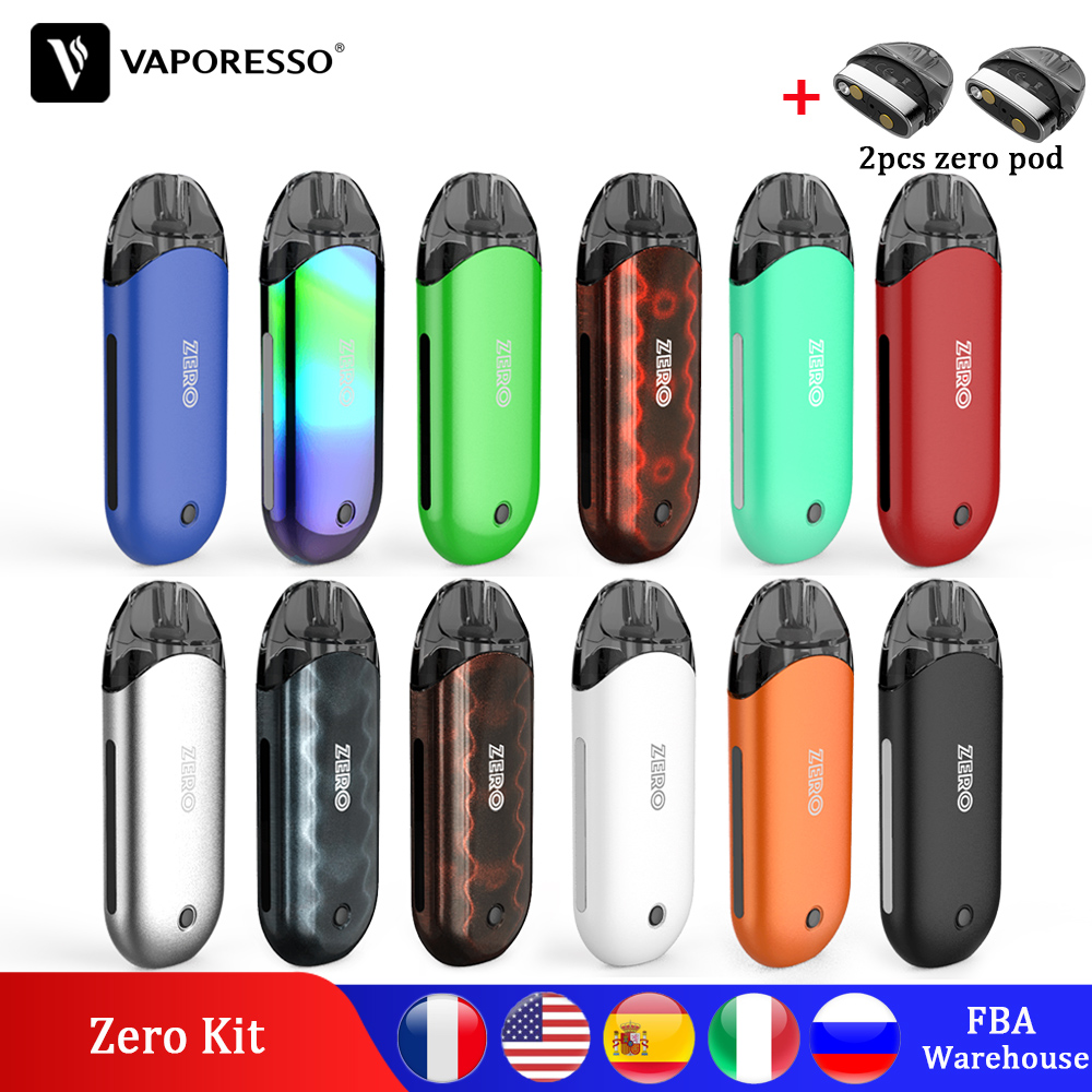 Original Vaporesso Vape Renova Zero Pod Kit Electronic Cigarette With 650mAh Built In Battery PCTG Tank Coil Vapour Cigarette