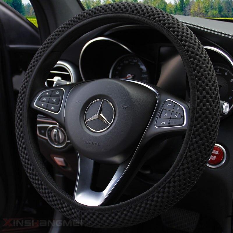Cobertura do volante do carro de lupa com agulhas e diâmetro 36-38cm da tela da malha acessórios do carro do automóvel