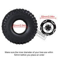 "INJORA 4PCS 171g/pcs Heavy RC Rock Crawler Metal 1.9"" BEADLOCK Wheel Rim for 1/10 Axial SCX10 90046 90047 D90 3"