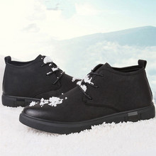 Ankle Boots for men Business Chukka Mens Boots High Top Casual Shoes Outdoor Leather Mens Winter Shoes Male Walker Peak 100% genuine leather winter boots mens waterproof snow boots outdoor warm winter shoes for men anti cold ankle boots walker peak