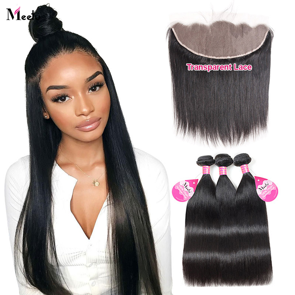 Meetu Straight Bundles With Frontal Hd Lace Frontal And Bundles Malaysian Bone Straight Human Hair Bundles With Frontal Closure Special Discount B00c Cicig