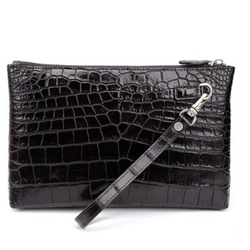 yinshang crocodile men envelope bag  new fashion bags Hand male soft leather clutch