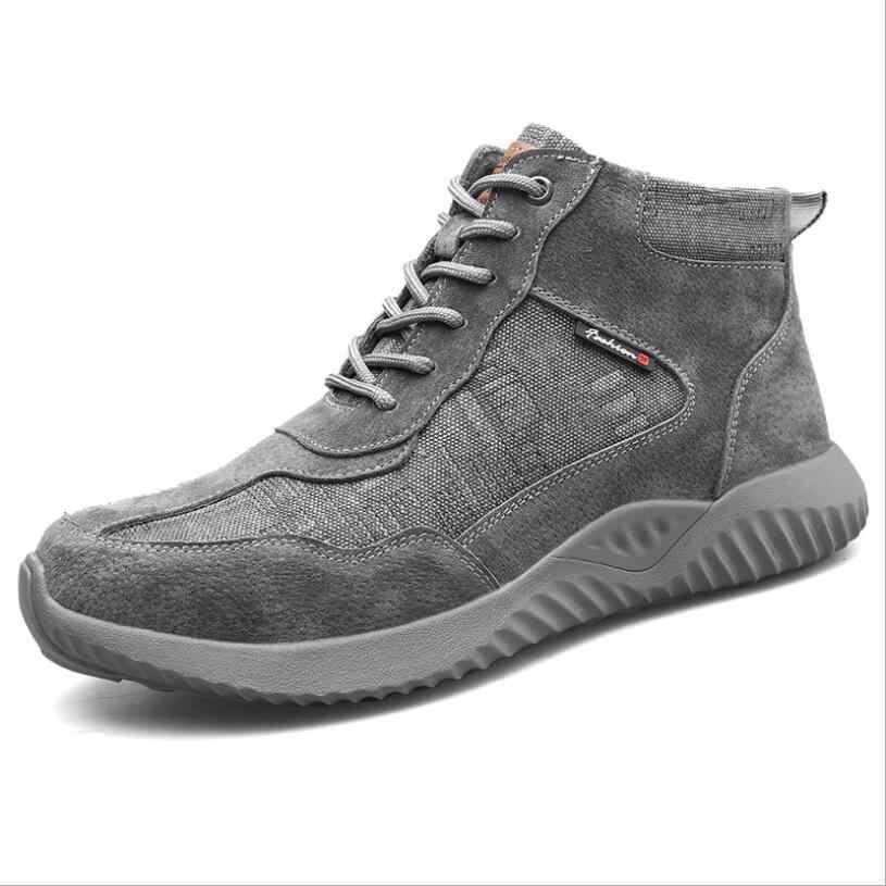 C777 鋼つま先安全作業靴男性 2019 ファッション通気性スリップ抗スマッシング抗ピアス不滅作業マーティンブーツ