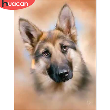 HUACAN Dog Diamond Painting Animal Embroidery Cross Stitch Full Square/Round Mosaic Picture Handcraft Home Decor - discount item  26% OFF Arts,Crafts & Sewing