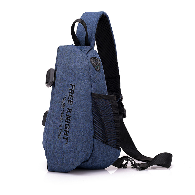 2019 New Products Outdoor Casual USB Chest Pack Waterproof Anti-Theft Shoulder Bag Customizable Logo