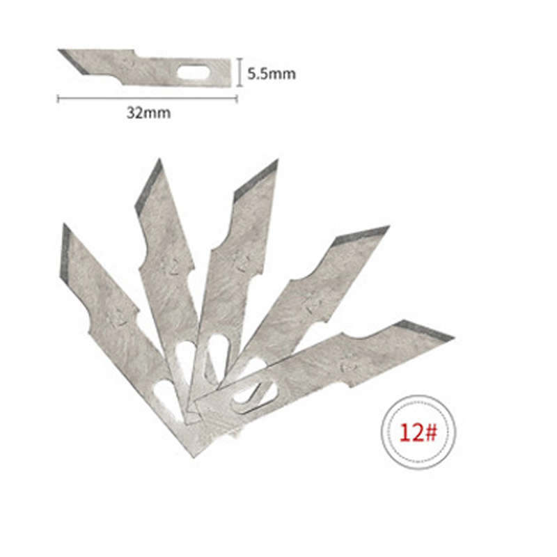 1 шт. Нескользящие металлические лезвия для резьбы по дереву инструменты еда скульптура гравировка нож для канцелярские творческие принадлежности - Цвет: No.12