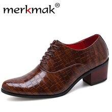Мужские деловые туфли оксфорды merkmak черные из натуральной