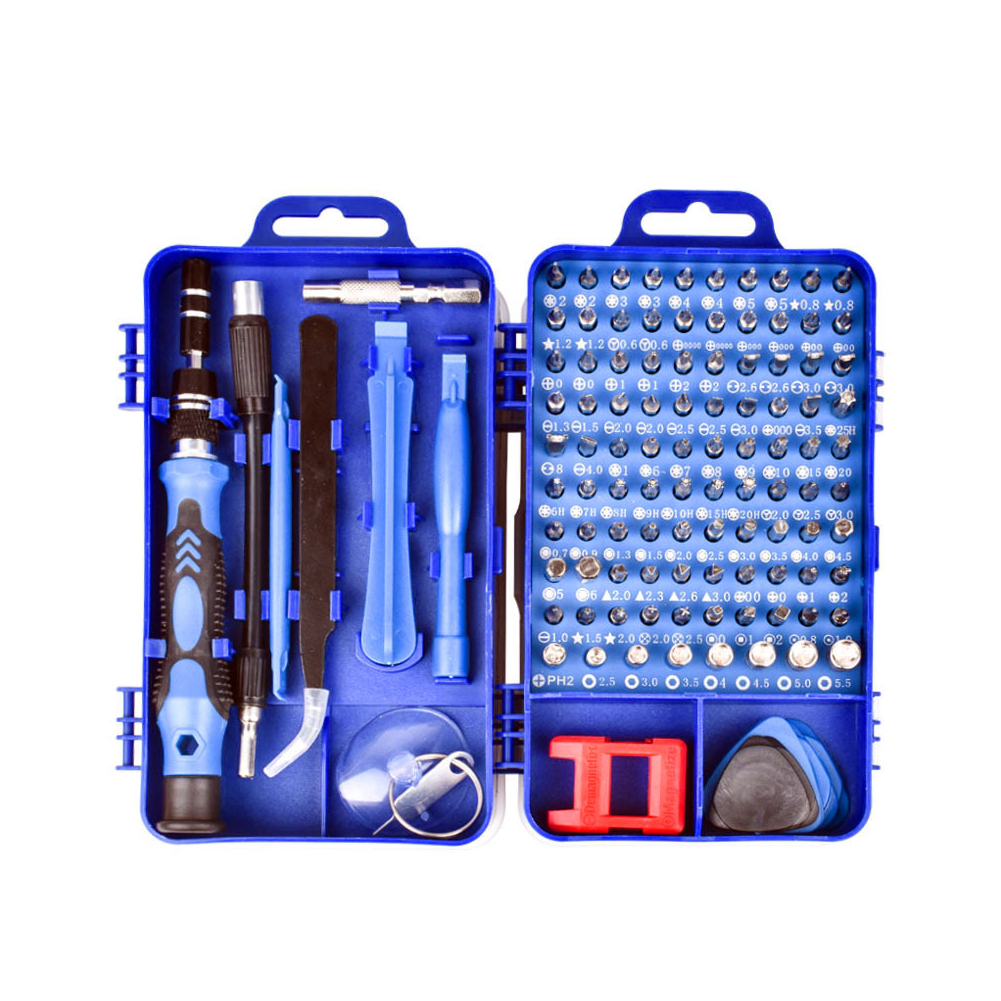 115 in 1 Screwdriver Set of Screw Driver Bit Set Multi-function Precision Mobile Phone Repair Device Hand Tools Torx Hex Blue