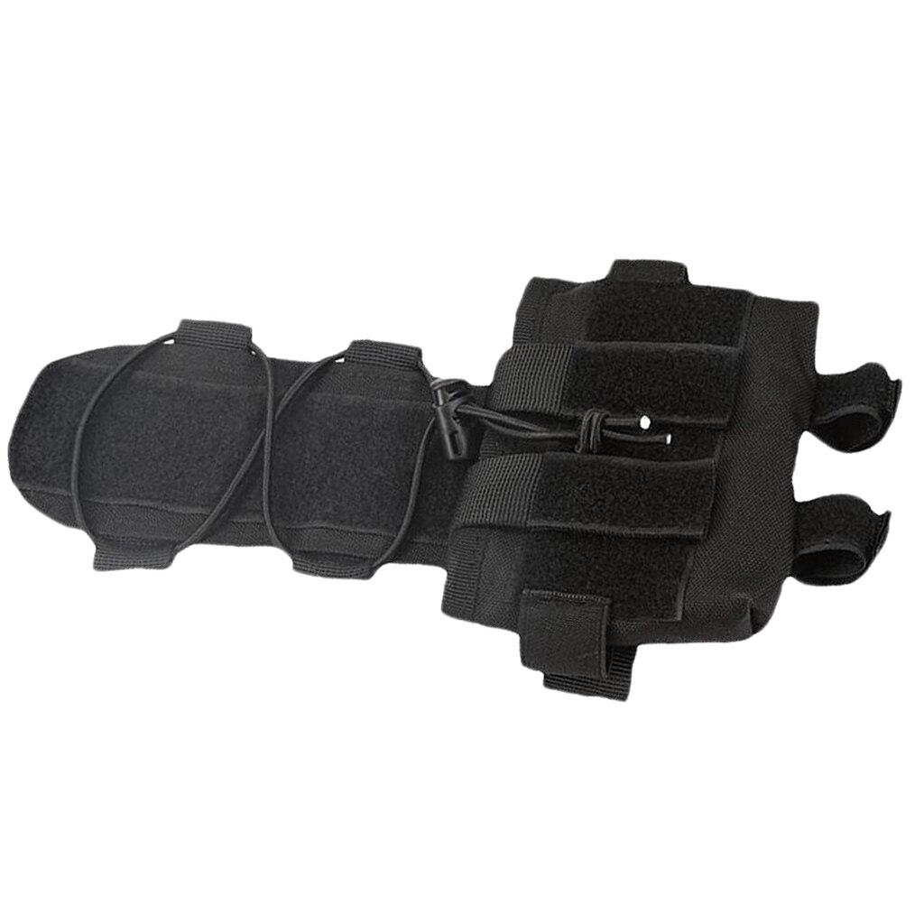 Pil kutusu kask  dayanıklı hafif Molle kask çantası avcılık için karşı ağırlık aksesuarları saklama çantası - title=