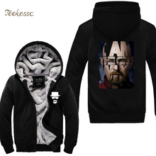 Breaking Bad Heisenberg Figure Hoodies Sweatshirt Men 2018 New Fashion Winter Warm Fleece Thick Sweatshirts Sportswear Coat 5XL