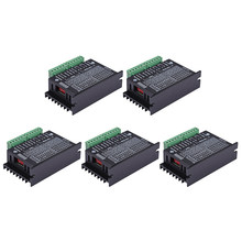 5pcs TB6600 Upgraded Version 4A 40V DC 42/57/86 Stepper Motor Driver Controller 32 Segments Micro-step (Black)(China)