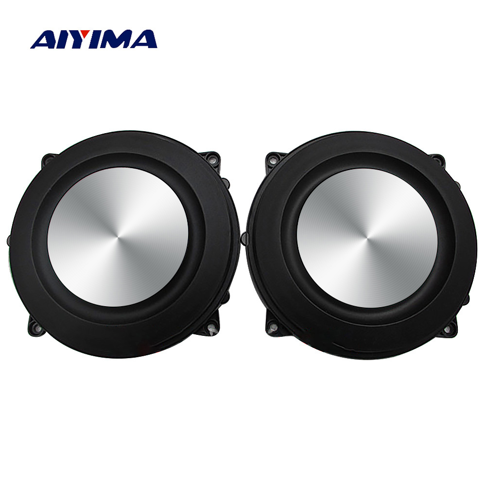 AIYIMA 2PC 4Inch <font><b>120MM</b></font> Bass Radiator Passive Radiator <font><b>Speaker</b></font> Brushed Aluminum Auxiliary Bass Vibration Membrane For Woofer DIY image
