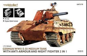 ModelCollect 1:72 ua72178 German e-50 Medium Tank w/Anti-Armour & Night
