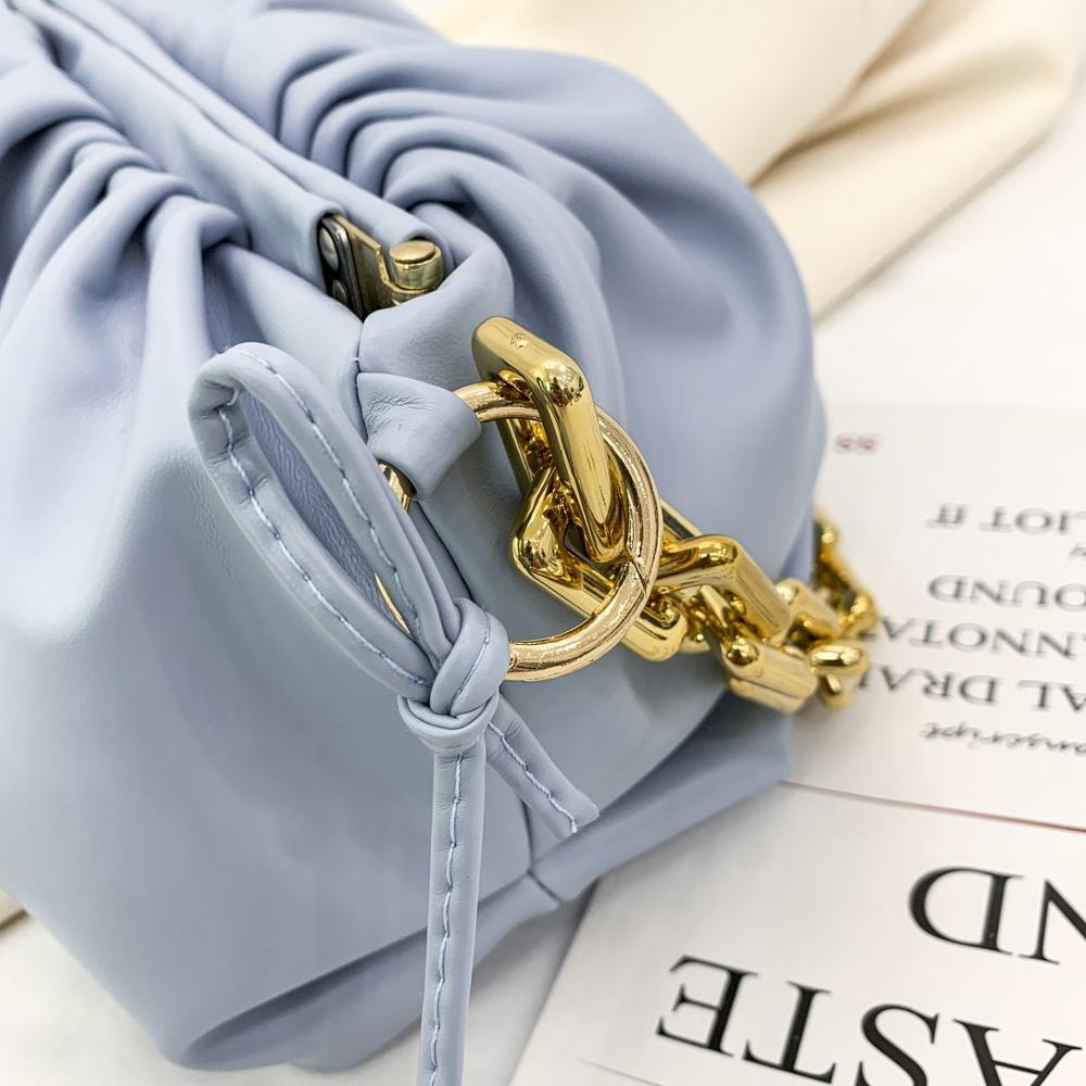 bags for women 2020 PU leather thick chain cloud handbag fashion shoulder underarm bag chain women bag shoulder bag and 11 color