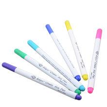 6 adet su silinebilir kalemler kumaş İşaretleyiciler çözünür çapraz dikiş kalem Patchwork dikiş dikiş araçları aksesuarları sanat zanaat