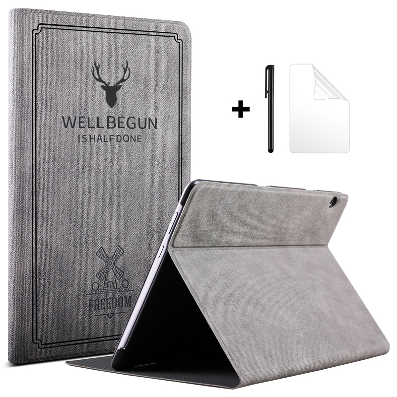 Case For Huawei MediaPad T5 10 AGS2-L09/W09/L03 Tablet Funda Retro Folding Stand PU Leather Flip Cover For Huawei T5 10.1 Case