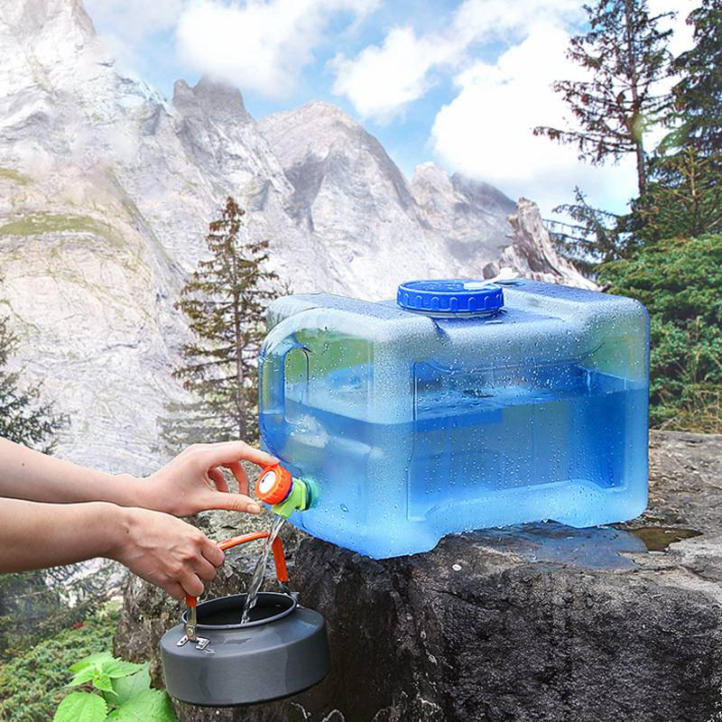 5L/8L12L Car Driving Water Bucket Food Grade PC Water Tank Outdoor Hiking Camping Water Container With Faucet Water Storage Tank