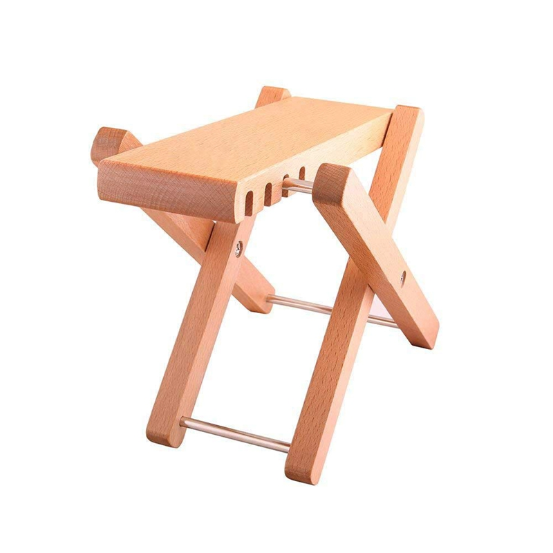 Solid Wood Guitar FootStools Adjustable 4 Levels Professional Folding Wood Footstool Pedal Adjustable Footstool From 5 Inch Up T