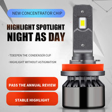 2x Car LED Headlight Bulb Fog Lamp H11 9006 HB4 9005 HB3 H4 H7 H8 H1 for peugeot 406 301 5008 2008 408 hyundai santa fe vw polo