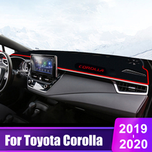 цена на For Toyota Corolla 2006-2012 2013 2014 2015 2016 2017 2018 2019 2020 Car Dashboard Cover Mats Avoid Light Pad Sun Shade Carpets
