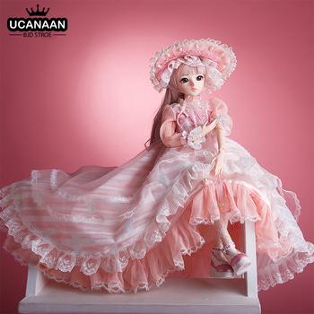 UCanaan BJD Doll 60CM 1 3 przeguby kulowe lalki 12 style z pełnym stroje sukienka peruka buty makijaż prezent dla dziewczyn kolekcja zabawki tanie i dobre opinie CN (pochodzenie) KD Classical Doll cartoon Model Edukacyjne Dıy Toy Film i telewizja Interaktywny lalki Fashion doll Matryoshka doll