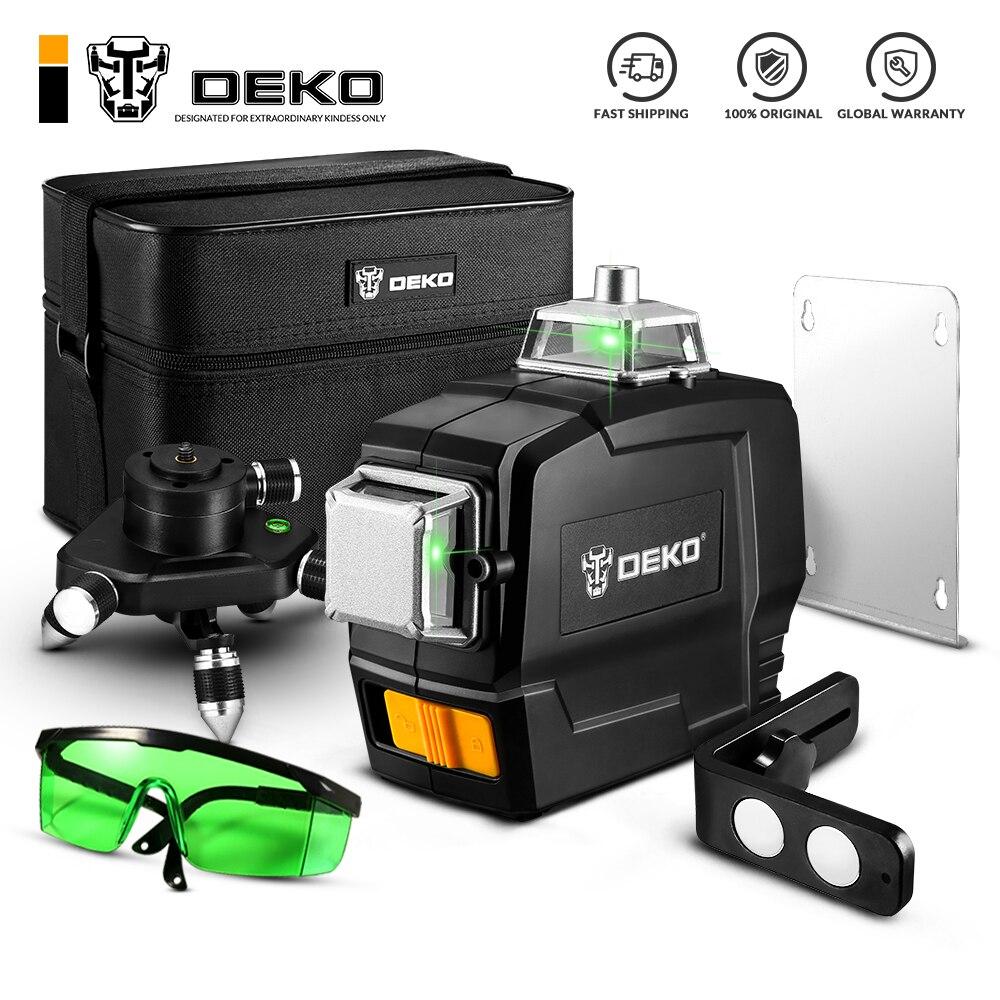 DEKO DKLL12PB1 серия 12 линий 3D зеленый лазерный уровень ClassII Горизонтальные и вертикальные поперечные линии самонивелирующийся|Лазерные уровни|   | АлиЭкспресс