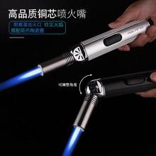 Jet Torch Kitchen Pipe Lighter Spray Gun Turbo Gas Windproof Camping Lighters Butane Cigar 1300 C Outdoor Baking Gadgets For Men недорого