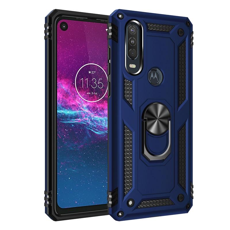Best Protection Kickstand Finger Ring Case For MOTO P40 Power One Hyper Action Vison Zoom Macro G8 Plus G7 Play E5 E6 G Stylus