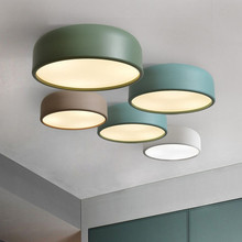 nordic style ceiling lamp macarons color ceiling lamp kids room girls room lighinting E27*3(China)